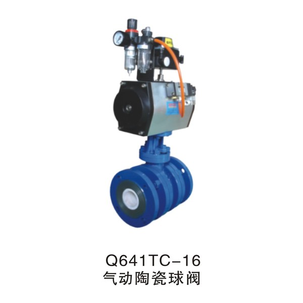 Q641TC-16 Pneumatic ceramic ball valve